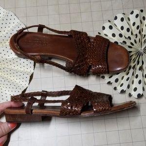 Vintage 70's Sesto Meucci Leather Sandals 8.5